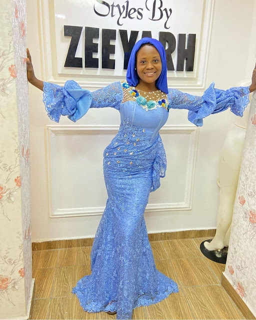Aso Ebi Lace Gown Styles 2020