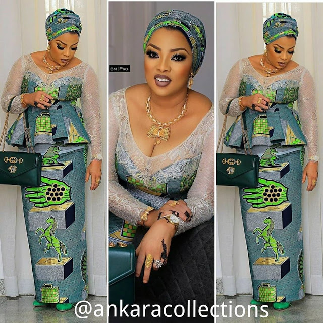 2019/2020 Hot and Fascinating African Fashion Design Beautiful Ankara Style - Aso Ebi Styles for Elegant Queens