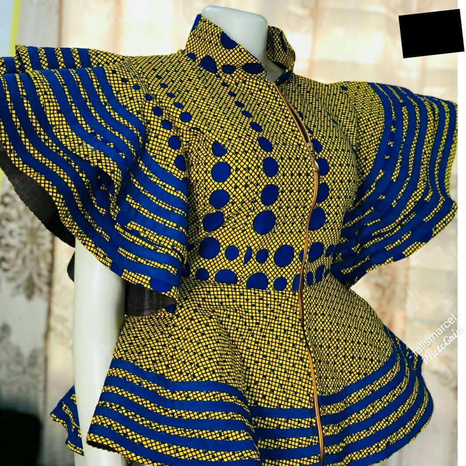 ankara peplum blouse and skirt styles